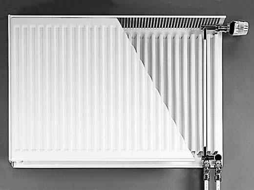 Разрез стального панельного радиатора